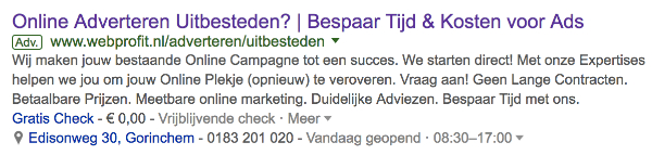 Google ads advertentie