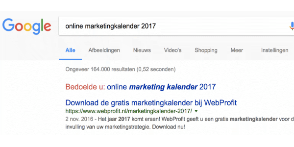 online marketingkalender 2018